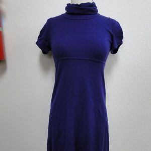 THEORY DRESS PURPLE WOOL WOMENS XS S 0 2 4 6 SMALL